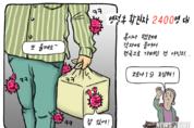 [박마틴 만평] 명절 후 코로나 확진자 2400명대...'역대 최다'